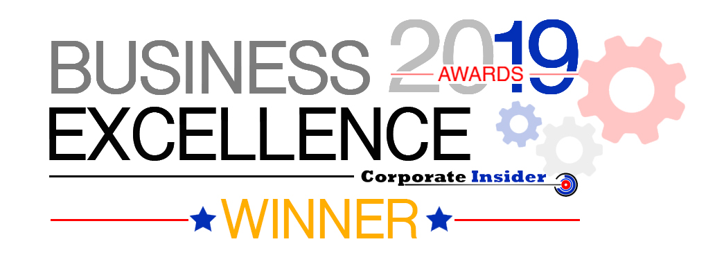Logo of award for 'Business Excellence Awards Corporate Insider'
