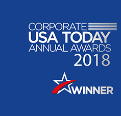 Logo of award for 'Corporate USA Today Annual Awards 2018'
