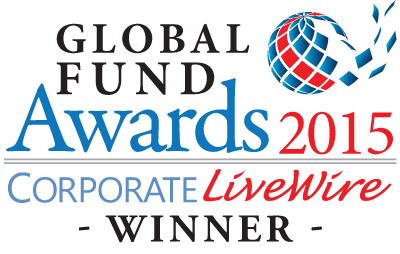 Logo of award for 'Global Funds Awards 2015 (Corporate Livewire Winner)'