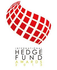 Logo of award for 'International Hedge Fund Awards 2013'
